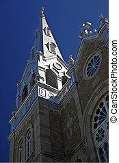 Church steeple - Church steeple on a clear day