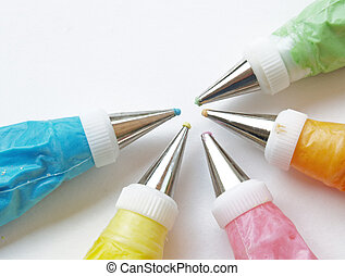 cake frosting icing - colorful frosting ready to decorate...