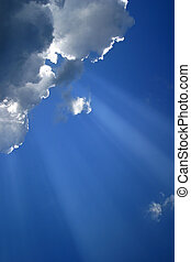 Cloud with beams - 1 - The image of a cloud with beams