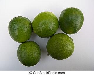 5 wonderful limettes - five wonderful green isolatetd...