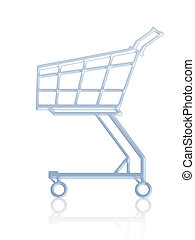 Empty shopping cart. Isolated