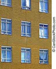 Neighbourhood - Detail of building with few windows of...