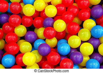 Playground balls - Background of colorful plastic balls at...