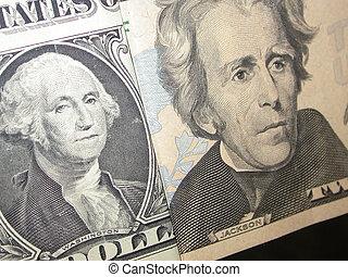 Washington Jackson - a close up of George Washington and...