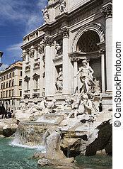 Rome - Trevi Fountain in Rome Italy