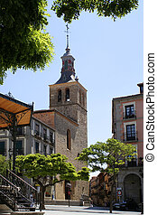Segovia church - Plaza in Segovia, Spain