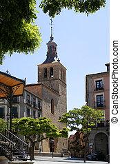 Segovia church - Plaza in Segovia, Spain