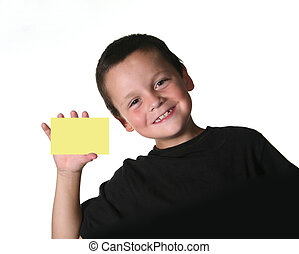 Young Child Holding Blank Sign - Young Child Holding Blank...