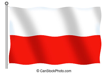 Poland Flag - Isolated Flag of Poland