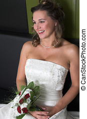 Radiant smile - Beautiful bride with a happy smile