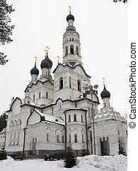White cathedral - Russia. Zelenogorsk. Kazanskiy cathedral