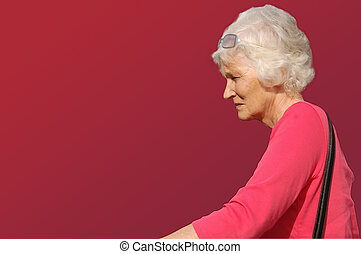 Gray lady - Outline of gray-haired woman