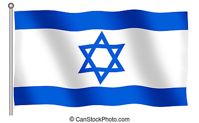 Flag of Israel Waving - Flag of Israel waving (With Clipping...