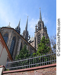 Petrov, Brno, Czech - Gothic Cathedral Of St. Peter And Paul...