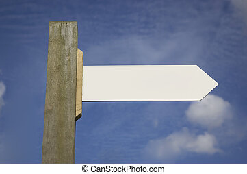 Signpost - A signpost with blank areas for adding your own...