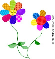 groovy flowers - patterned flower design