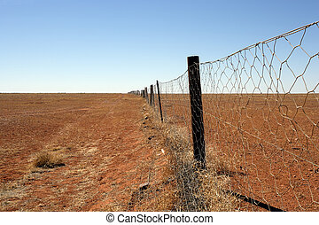 Outback Dingoe fence - An image of the Dingoe fence in the...