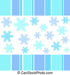 Snow flakes stripes - Snow flakes and stripes border