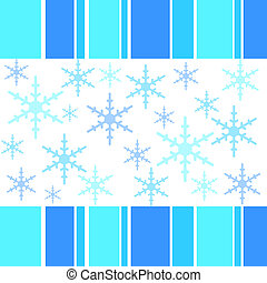 Winter flakes - Winter snow flakes and stripes