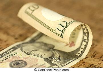 帳單, 美元, 十