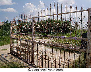 Hurricane Katrina - Wrought Iron Fence - one year after...