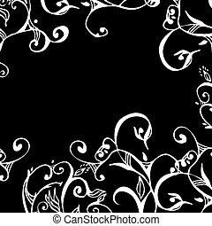 swirls and scrolls lace border - delicate border in white on...
