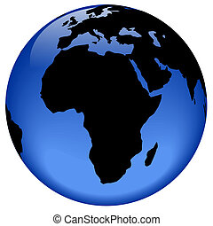 Globe view - Africa