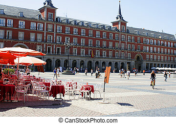 Madrid plaza - Plaza Mayor in Madrid, Spain