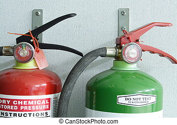 Fire Extinguishers - Photo of a pair of fire extinguisher.