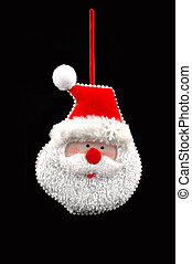 santa ornament - handmade santa christmas ornament isolated...