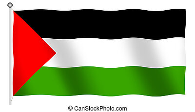 Flag of Palestine Waving - Flag of Palestine waving (With...