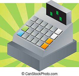 Cash register - Isometric  illustration of a cash register