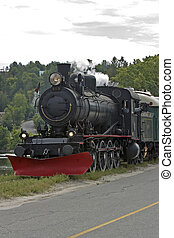 Steam train - Steam engine on the tracks at Wakefield,...