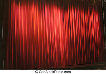 red stage curtain, background pattern