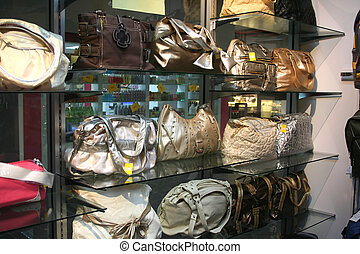 Handbags - Women\\\'s purses and handbags, on display in a...
