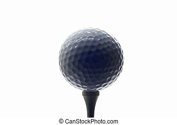 golfball on tee 02 - golfball on a golf-tee
