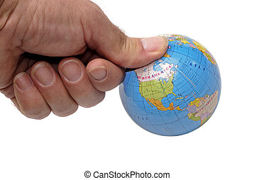 Under My Thumb - The Globe Under A Mans Thumb, Concept of...