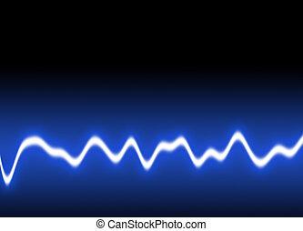 Energy waves Background - Energy single wave - Blue...