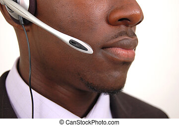 Customer Service - This is an image of close up of a man...