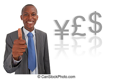 Yes Currency Pound - This is an image of businessman giving...