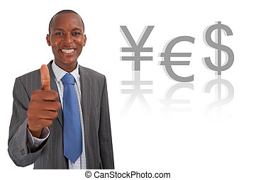 Yes Currency Euro - This is an image of businessman giving...