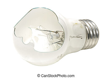 Broken Bulb - Photo of a Broken Light Bulb