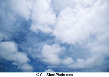 Clouds - Altocumulus clouds on blue sky day