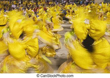 Rio de Janeiro Brazil Carnival - Carnaval parade at the...