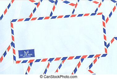 Airmail envelopes with clipping path