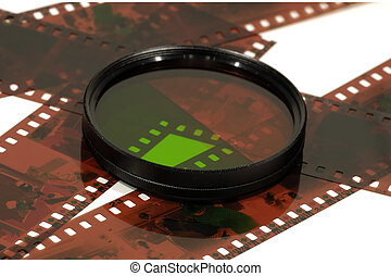 Lense Filter - Photo of a Dual Tone Lense Filter