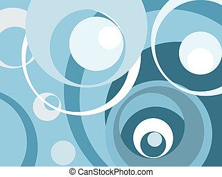 retro background - vintage blue circles(great for any...