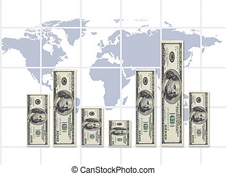world rate of exchange - dollar graphicmade from my images...
