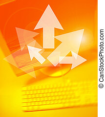Arrows Team Works - Arrows on Personal Computer background