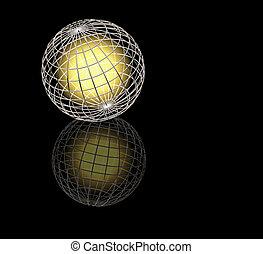 Glowing globe - Glowing wireframe globe